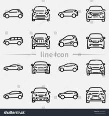 car outline front. Perfect Car Set Of Various Cars Front And Side View Outline Vector Icon In Car Outline Front R