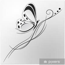 Plakát Motýl Tribal Tetování