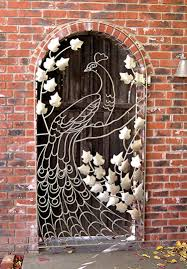Antike Haustür Pfau Metall Gitter Door Style Old Kapılar