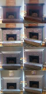 I Used Brick Stain To Update Our Old Yellow Brick  My House Cleaning Brick Fireplace Front