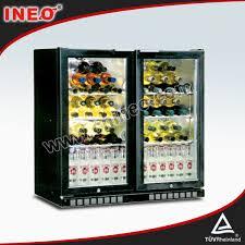 201l ventilated glass door bar fridge
