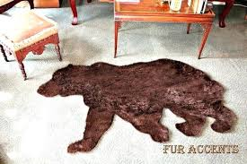 fake bear skin rug plush thick faux fur fabric bear skin rug grizzly fake bearskin teddy bear faux taxidermy toss fake polar bear skin rug with head fake