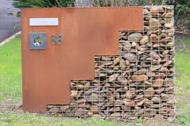 Small Picture Stone Wall Ideas Garden Wall Design and Cost Gabion1 NZ