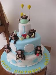 Baby Boy 1st Birthday Monkey Cake Kids Party Ideas Monkey