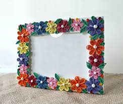 Paper Quilling Flower Frames Diy Paper Quilled Photo Frame 6 Steps With Pictures