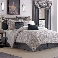 bedroom soft grey damask duvet cover with black line accent plus white and plus black