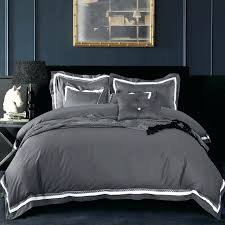 duvet covers king cotton luxury satin fabric solid color dark grey duvet cover set king