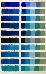 Blue In Green Chart Robin Rosenthal Art Blue Color Charts