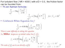 37 colebrook white equation