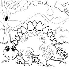 Dinosaur Coloring Pages Toddler For Toddlers Kids Free Online