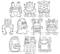 Monster Coloring Book S These Little Monsters Are Super Cute And
