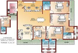 4 bedroom floor plan.  Floor 4 Bedroom Floor Plan Throughout Bedroom Floor Plan O