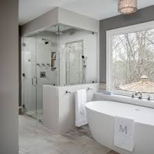 bathroom ideas. Inspiration For A Large Transitional Master Gray Tile And Ceramic Porcelain Floor Bathroom Ideas