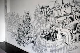 office graffiti wall. gorey thrillist office graffiti wall