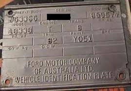 ford australia vin decoder chart compliance plates