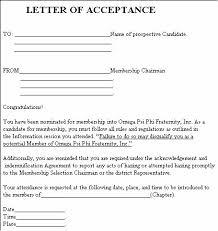 Form 1c Letter Of Acceptance