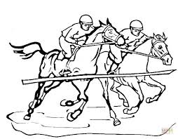 Small Picture Race Horse coloring page Free Printable Coloring Pages