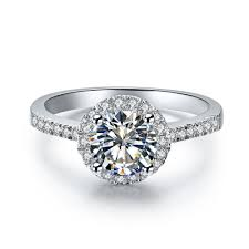 1 Carat Diamond Ring Designs Us 330 65 15 Off 0 5 Carat Hole Plush Round Cut Synthetic Diamonds Wedding Ring Surprise High Quality Au750 White Gold Female Ring In Engagement