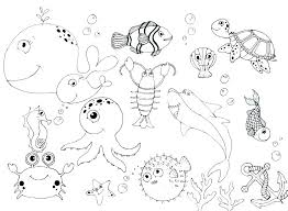 Ocean Creatures Coloring Pages Under The Sea Coloring Page Pages
