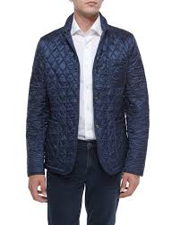 burberry brit howe quilted jacket navy