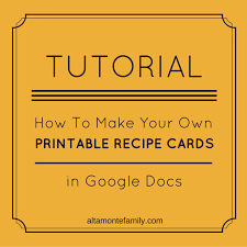 Recipe Template Google Docs How To Make Free Printables In Google Docs Altamonte Family Within