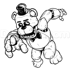 How To Draw Freddy Fazbear Five Nights At Freddys Step 25 Five