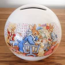 image is loading bunnykins childs christening money box royal doulton excellent