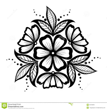 Simple Patterns To Draw Beauteous Drawing Flower Patterns Simple Floral Designs For Drawing Simple