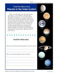 1St Grade Planets Worksheets Worksheets for all | Download and ...