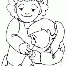 Small Picture Coloring Page On Kindness Kids Drawing And Coloring Pages Marisa
