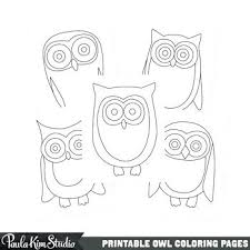 Printable Owl Coloring Pages By Studio Free Printable Owl Baby