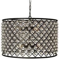cassiel oil rubbed bronze round drum crystal chandelier contemporary liked on