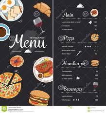 Food Menu Design Ideas Restaurant Food Menu Design With Chalkboard Stock Vector
