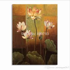 2018 pure lotus flower painting canvas wall art picture for living room canvas hand painted modern abstract oil painting from paintingart2017  on lotus flower canvas wall art with 2018 pure lotus flower painting canvas wall art picture for living