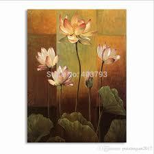 lotus flower canvas wall art