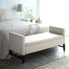 Impressive Furniture Storage Bench Furniture Elegant White Tufted With  Regard To End Of Bed Bench Storage Plan