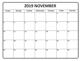 Daily Picture Calendar Daily Calendar November 2019