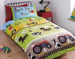 apple tree farm bedding farm animals tractors duvet comforter cover set crib toddler twin full