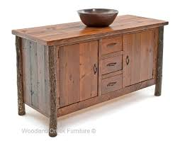 Hickory Log Vanity Rustic Vanities Cabin & Lodge Vanity