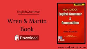 wren martin book pdf english grammar free