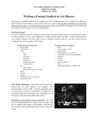 A thesis statement must be focused and should address a problem or propose a solution. Formal Analysis Art History Studocu