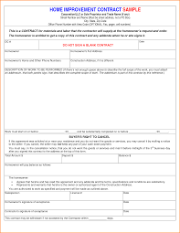 Home Remodeling Contract 24 Remodeling Contract Template Loan Application Form 6