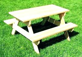 small kids picnic table outdoor bench outside tables wooden round decorating living room for kitchenaid blender
