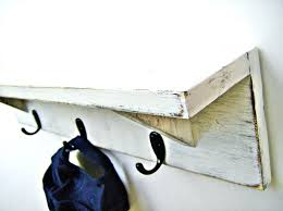 Rustic Wooden Coat Rack Rustic Wood Coat Rack Wall Shelf With Hooks Antique White By Inch 67
