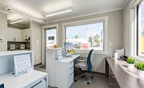 Pictures office Warehouse Bigsteelbox Mobile Offices For Sale And Rent Closet America Mobile Office Buildings Portable Conex Construction Offices