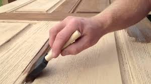 refinishing front doorRefinishing a fiberglass entry door  YouTube