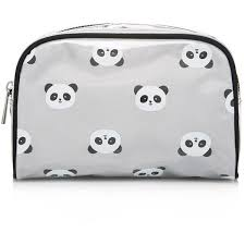 forever 21 panda print makeup bag found on polyvore featuring beauty s beauty accessories