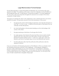 Memorandum Samples Templates Kostenloses Legal Memorandum Format Sample