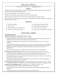 Cover Letter Instructional Design Resume Examples Instructional
