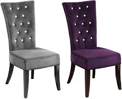Purple Bedroom Chairs New 2 X Charcoal Velvet Grey Radiance Bedroom Dining Chair With
